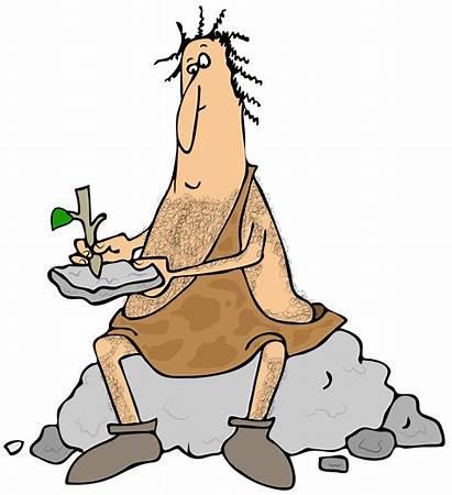 Caveman Stone Tablet Writing Clipart Illustration Cartoon
