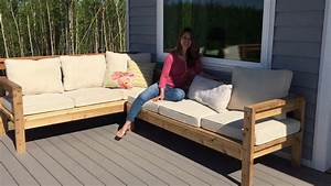 How to build a cozy 2x4 sectional sofa for outdoor patio for Build outdoor sectional sofa
