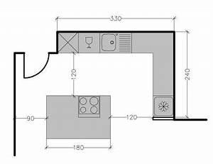 Dimension Standard Meuble Cuisine : plan ilot central cuisine en image ~ Teatrodelosmanantiales.com Idées de Décoration