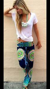 Pants boho bohemian hipster hippie hippie pants yoga pants neon cute tumblr outfit ...