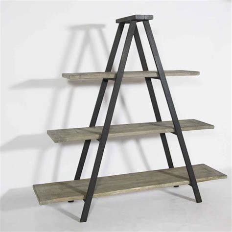 comptoir ilot cuisine etagère échelle bois recyclé made in meubles