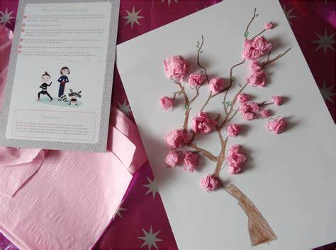 le en papier japonais mon cerisier japonais en papier de soie tiniloo