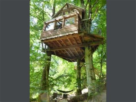 chambre dans un arbre 1 cabane dans les arbres chambre d 39 hôtes à magnat l 39 étrange