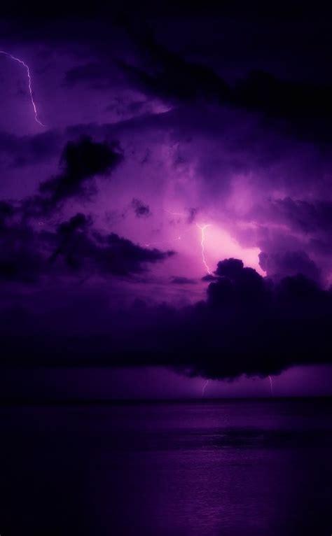 pemandangan langit ungu wallpapersc iphones