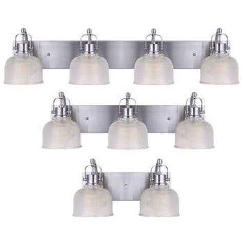 Costco Bathroom Light Fixtures by Costco Messina Brushed Nickel Vanity Fixtures 69 2