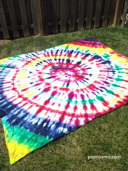 tie dye sheet for backdrop of photo booth block party