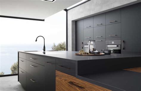 cuisine noir mat cuisine noir mat et bois estein design
