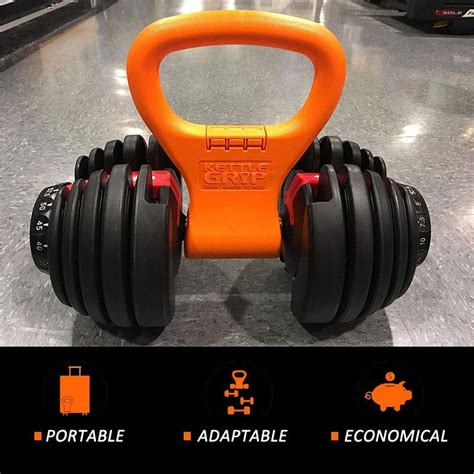 equipment kettlebell exercise grip weight dumbbell gym fitness adjustable bodybuilding crossfit carry kettle bell easy travel portable convert workout twister