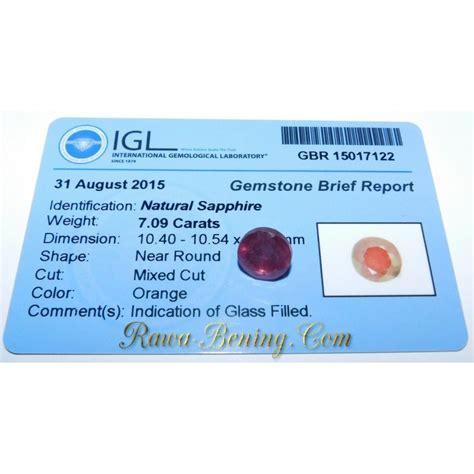 diskon batu permata natural sapphire orange cut 7 09 carat