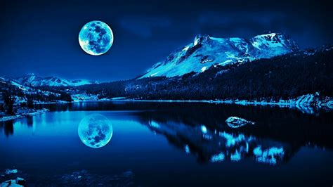 blue moon wallpapers  background pictures