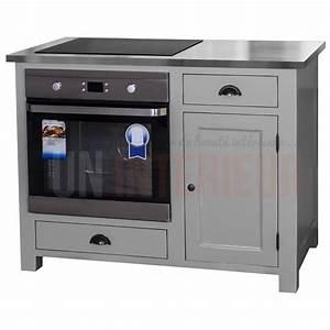 Meuble Pour Four : meuble four et plaque de cuisson en pin massif 120cm ~ Teatrodelosmanantiales.com Idées de Décoration