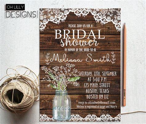 Best  Rustic Bridal  Ee  S Er Ee    Ee  Invitations Ee   Ideas On