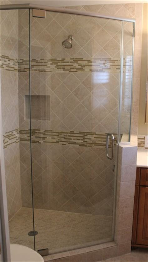 Frameless Shower Enclosure   Neo Angle   Traditional
