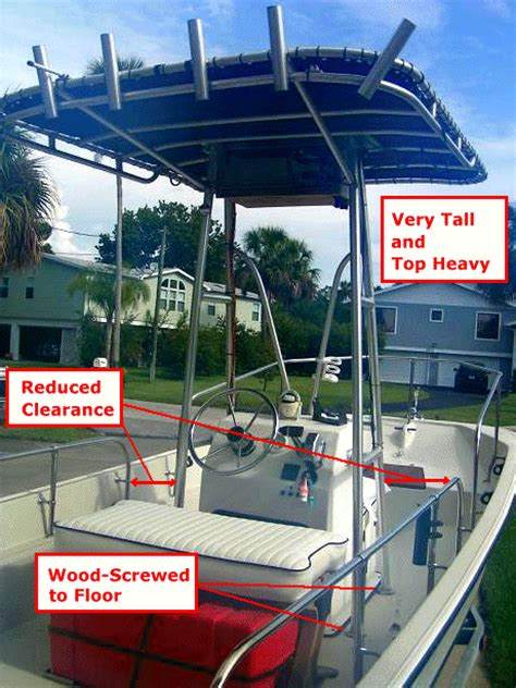 Boat T Top Weight by Montauk T Folding T Top For Boston Whaler 174 10