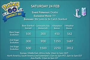 Pokemon Go Trade Stardust Chart Community Day Stardust Chart With All Modifiers Pokemongo
