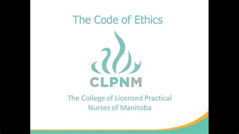 Clpnm Code Of Ethics