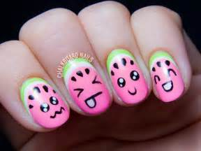 Or how to make your fruit cute chalkboard nails nail art