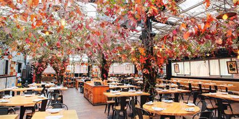 eataly nycs serra dautunno  covered  fall foliage