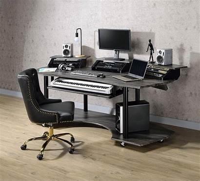 Computer Desk Office Oak Eleazar Furniture Acme