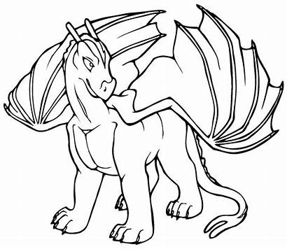 Dragon Pages Coloring Printable Colouring Simple Printablecolouringpages