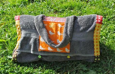 diy sommer projekt tasche packt  strand handtuch decke