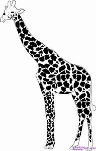 How To Draw a Giraffe, Step by Step, safari animals ...