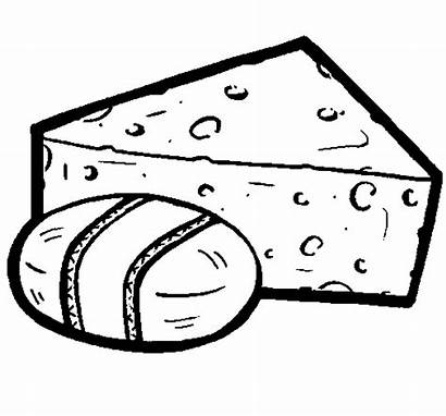 Coloring Cheese Cheeses Dairy Colorear Coloringcrew Pages
