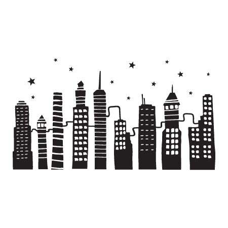 city doodles  night wall quotes decal wallquotescom