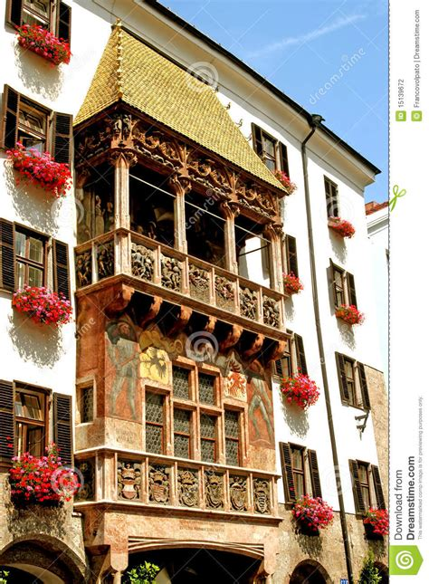 golden roof innsbruck austria stock photo image