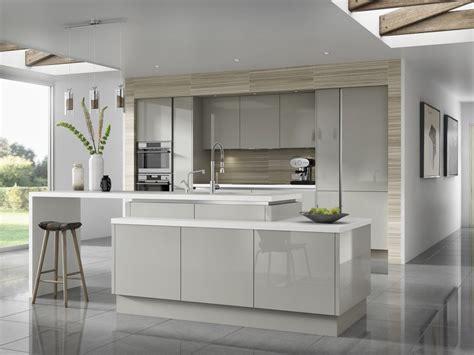 design of kitchen cabinet optimized horizon handleless range gloss light grey 6589