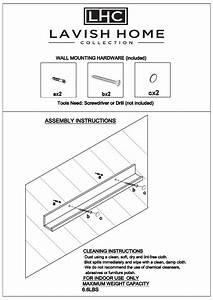 Lavish Home Hw0200099 Decorative Floating Wall Ledge Shelf