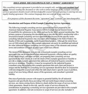 consulting contract With it consulting contract template