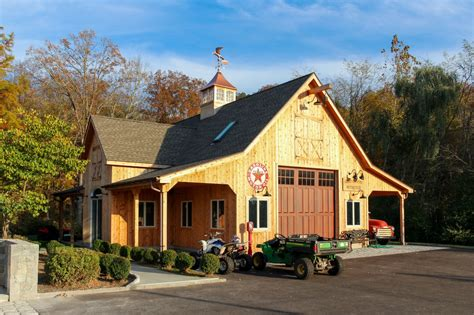 Barns And Garages by Custom Barn Garage Before After The Barn Yard Great