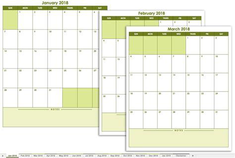 free calendar templates free excel calendar templates