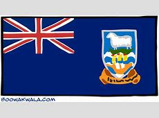 Falkland Islands Flag Free Coloring Pages