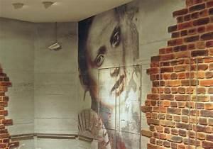 Wandgestaltung Mit Steinoptik : dekorative wandgestaltung beton und ziegelwand optik wu pinterest ziegelw nde ~ Markanthonyermac.com Haus und Dekorationen