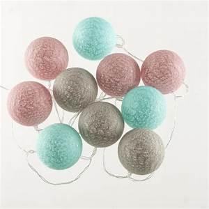 Guirlande Boule Lumineuse : guirlande lumineuse 10 boules led coloris rose bleu gris achat vente guirlande lumineuse ~ Teatrodelosmanantiales.com Idées de Décoration