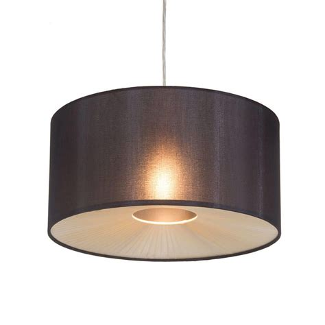 shades of light large drum ceiling light shade easy fit mocha modern home