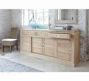 grand bahut chene massif 3695 With meubles de rangement salon 2 tables chaises claustras buffet meuble de rangement