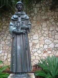Statue Of Saint Anthony Of Padua On The Riverwalk