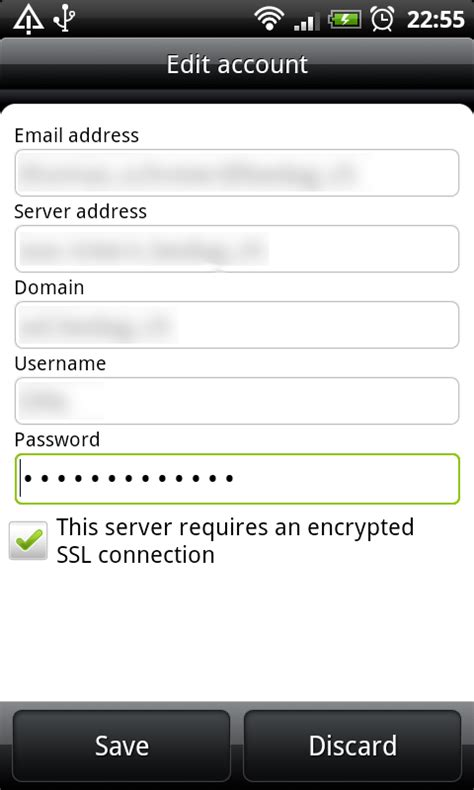 android email setup rigelt exchange activesync on android phones desire froyo