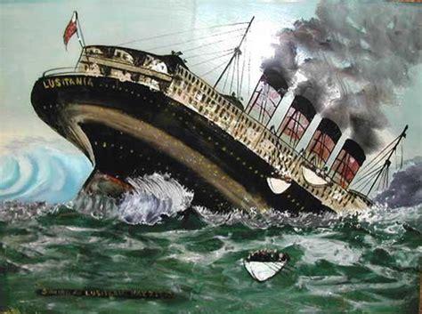where exactly did the lusitania sink lusitania titanic painting on glass