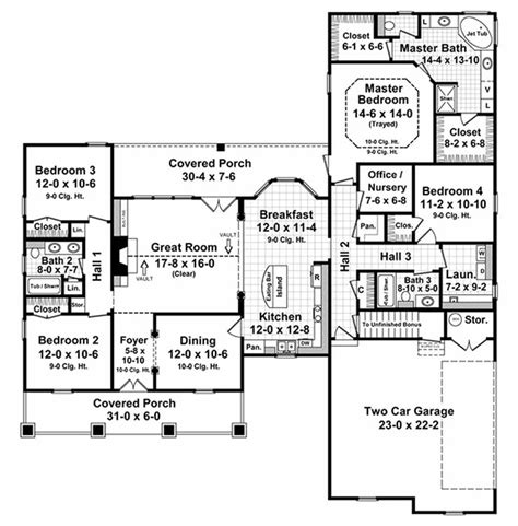 country style floor plans country style house plan 4 beds 3 baths 2250 sq ft plan