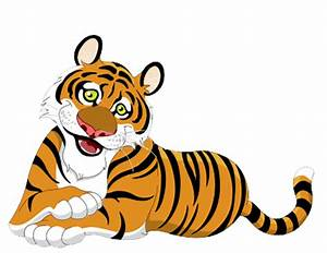 Baby Animal clipart tiger tail - Pencil and in color baby ...