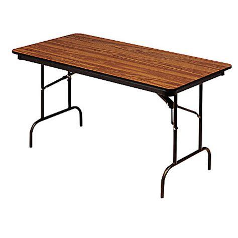 folding wood table home depot iceberg premium folding table rectangular 72 w x 30 d