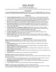 resume account manager advertising account manager resume template premium resume sles exle