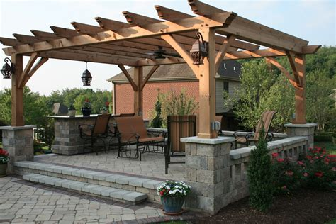 fabulous exterior home design inspiration expressing gorgeous pergola roof for patio combine