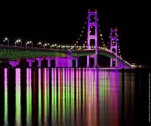 One Man U0026 39 S Dream To  U0026quot Light The Mackinac Bridge U0026quot  With Computerized Led Lights