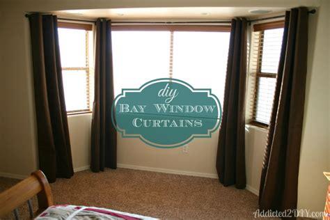 diy bay window curtains addicted 2 diy