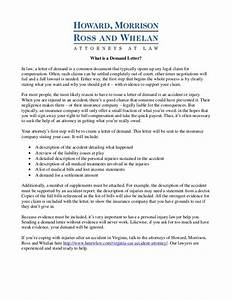 personal injury claim demand letter With personal injury demand letter example